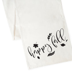 Happy Fall Canvas Table Runner - The Cotton and Canvas Co.