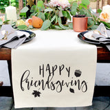 Happy Friendsgiving Canvas Table Runner - The Cotton and Canvas Co.