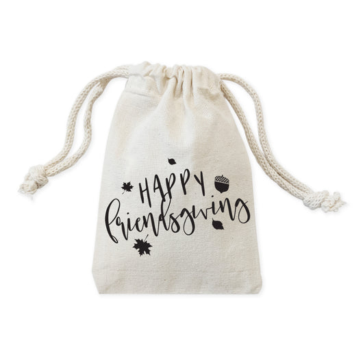 Happy Friendsgiving Favor Bags, 6-Pack - The Cotton and Canvas Co.