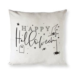 Happy Halloween Cotton Canvas Halloween Pillow Cover - The Cotton and Canvas Co.