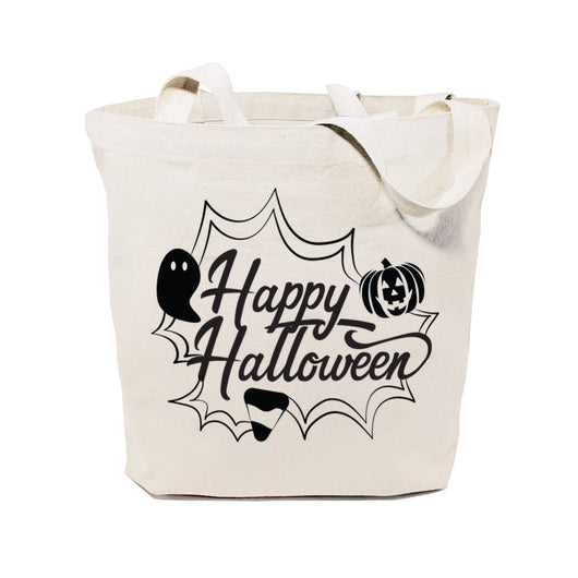 Happy Halloween Cotton Canvas Tote Bag - The Cotton and Canvas Co.