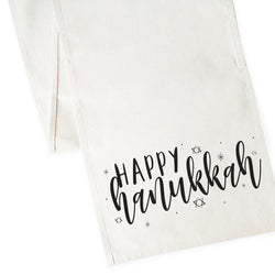 Happy Hanukkah Canvas Table Runner - The Cotton and Canvas Co.