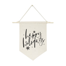Happy Holidays Hanging Wall Banner - The Cotton and Canvas Co.