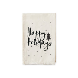 Happy Holidays Christmas Cotton Muslin Napkins - The Cotton and Canvas Co.