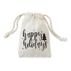 Happy Holidays Christmas Favor Bags, 6-Pack - The Cotton and Canvas Co.