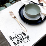 Happy Holidays Christmas Party Place Mat - The Cotton and Canvas Co.