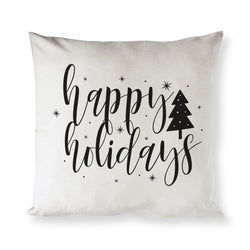 Happy Holidays Christmas Pillow Cover - The Cotton and Canvas Co.