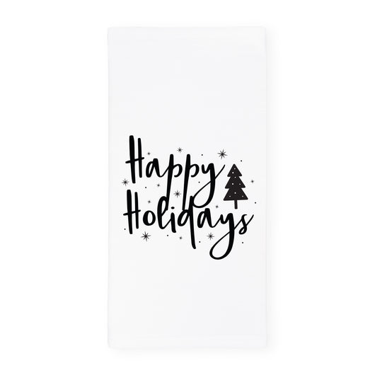 Happy Holidays Christmas Kitchen Tea Towel - The Cotton and Canvas Co.