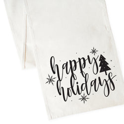 Happy Holidays Canvas Table Runner - The Cotton and Canvas Co.