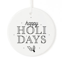 Happy Holidays Christmas Ornament - The Cotton and Canvas Co.