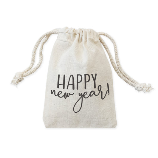 Happy New Year! Holiday Favor Bags, 6-Pack - The Cotton and Canvas Co.