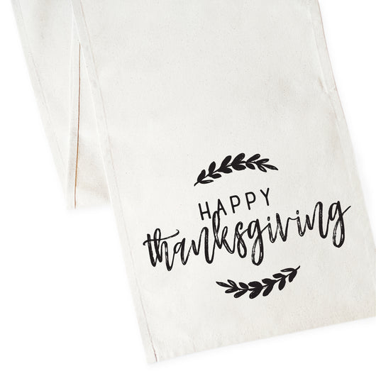 Happy Thanksgiving Canvas Table Runner - The Cotton and Canvas Co.