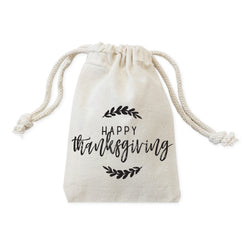 Happy Thanksgiving Favor Bags, 6-Pack - The Cotton and Canvas Co.