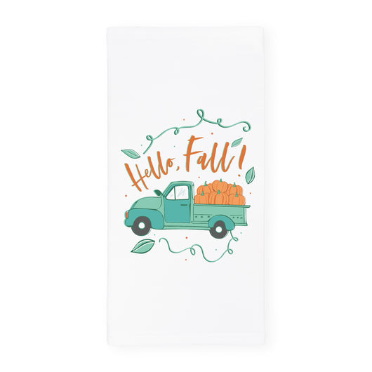 Hello Fall! Kitchen Tea Towel - The Cotton and Canvas Co.