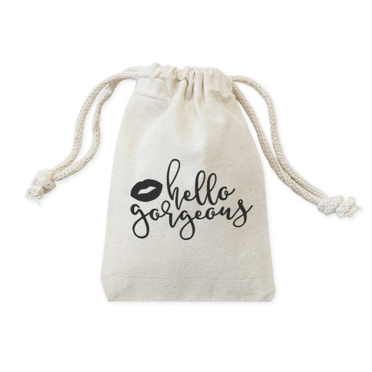 Hello Gorgeous Wedding Favor Bags, 6-Pack - The Cotton and Canvas Co.