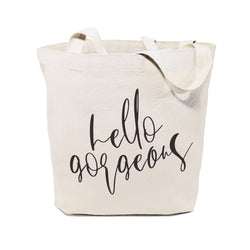 Hello Gorgeous Cotton Canvas Tote Bag - The Cotton and Canvas Co.