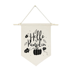 Hello Pumpkin Hanging Wall Banner - The Cotton and Canvas Co.
