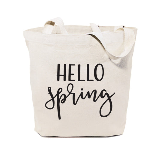 Hello Spring Cotton Canvas Tote Bag - The Cotton and Canvas Co.