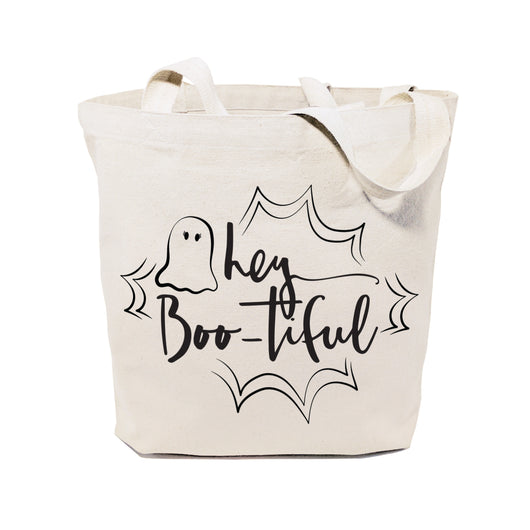 Hey BOO-tiful Halloween Cotton Canvas Tote Bag - The Cotton and Canvas Co.