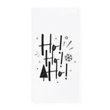 Ho! Ho! Ho! Christmas Kitchen Tea Towel and Dish Cloth - The Cotton and Canvas Co.