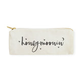 Honeymoonin' Cotton Canvas Pencil Case and Travel Pouch - The Cotton and Canvas Co.