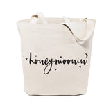 Honeymoonin' Wedding Cotton Canvas Tote Bag - The Cotton and Canvas Co.
