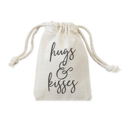 Hugs and Kisses Wedding Favor Bags, 6-Pack - The Cotton and Canvas Co.