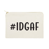 #IDGAF Cotton Canvas Cosmetic Bag - The Cotton and Canvas Co.