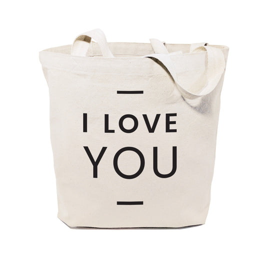 I Love You Cotton Canvas Tote Bag - The Cotton and Canvas Co.