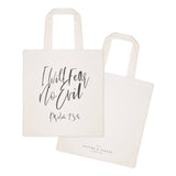 I Will Fear No Evil, Psalm 23:4 Cotton Canvas Tote Bag - The Cotton and Canvas Co.