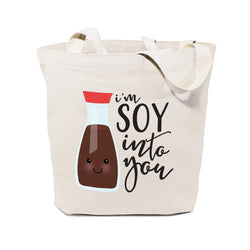 I'm Soy Into You Cotton Canvas Tote Bag - The Cotton and Canvas Co.