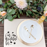 I'm Thankful For...Cotton Canvas Place Mat - The Cotton and Canvas Co.