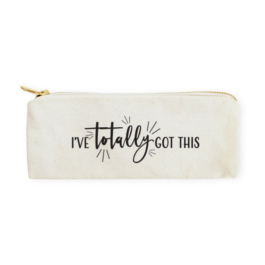 I've Totally Got This Cotton Canvas Pencil Case and Travel Pouch - The Cotton and Canvas Co.