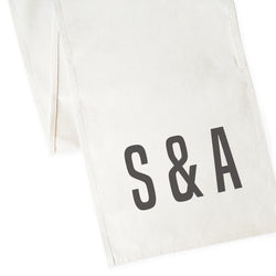 Personalized Couple Monogram Canvas Table Runner - The Cotton and Canvas Co.