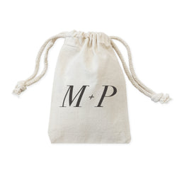 Personalized Monogram Wedding Favor Bags, 6-Pack - The Cotton and Canvas Co.