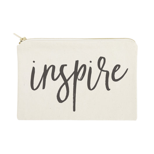 Inspire Cotton Canvas Cosmetic Bag - The Cotton and Canvas Co.
