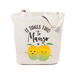 It Takes Two to Mango Cotton Canvas Tote Bag - The Cotton and Canvas Co.