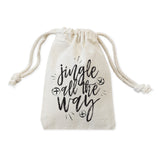 Jingle All the Way Christmas Holiday Favor Bags, 6-Pack - The Cotton and Canvas Co.