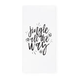 Jingle All the Way Christmas Kitchen Tea Towel - The Cotton and Canvas Co.