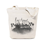 Los Angeles Cityscape Cotton Canvas Tote Bag - The Cotton and Canvas Co.