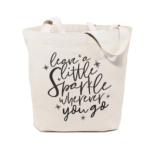 Leave a Little Sparkle Wherever You Go Cotton Canvas Tote Bag - The Cotton and Canvas Co.