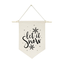 Let It Snow Hanging Wall Banner - The Cotton and Canvas Co.