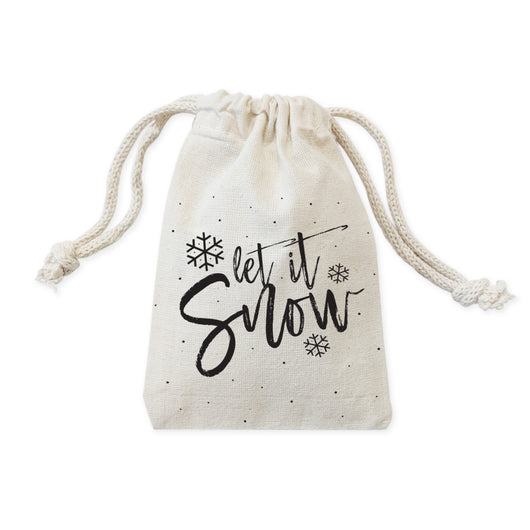Let It Snow Christmas Holiday Favor Bags, 6-Pack - The Cotton and Canvas Co.