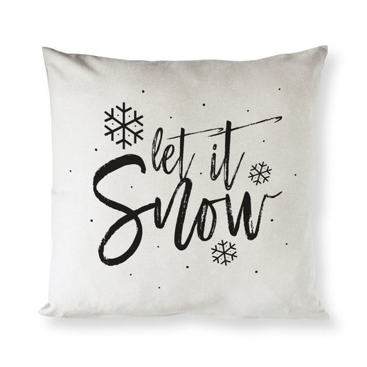 Let It Snow Christmas Holiday Pillow Cover - The Cotton and Canvas Co.