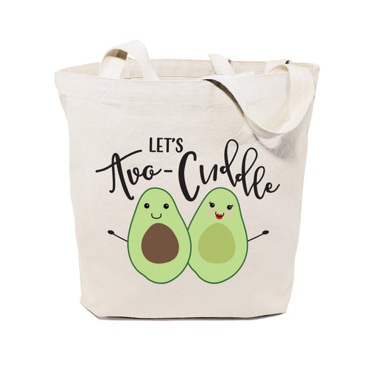 Let's Avo-cuddle Cotton Canvas Tote Bag - The Cotton and Canvas Co.