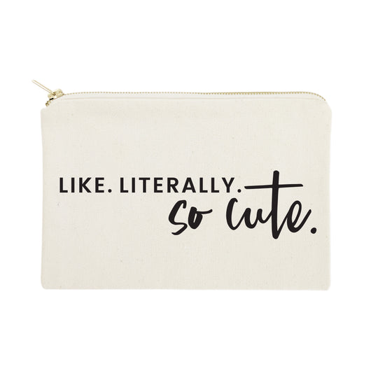 Like. Literally. So Cute. Cotton Canvas Cosmetic Bag - The Cotton and Canvas Co.