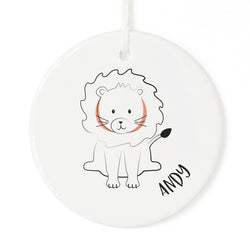 Personalized Name Lion Christmas Ornament - The Cotton and Canvas Co.