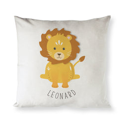 Personalized Lion Baby Pillow Cover - The Cotton and Canvas Co.