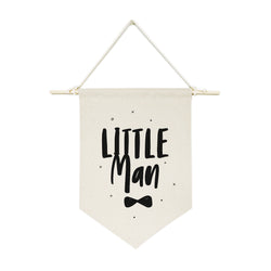 Little Man Hanging Wall Banner - The Cotton and Canvas Co.