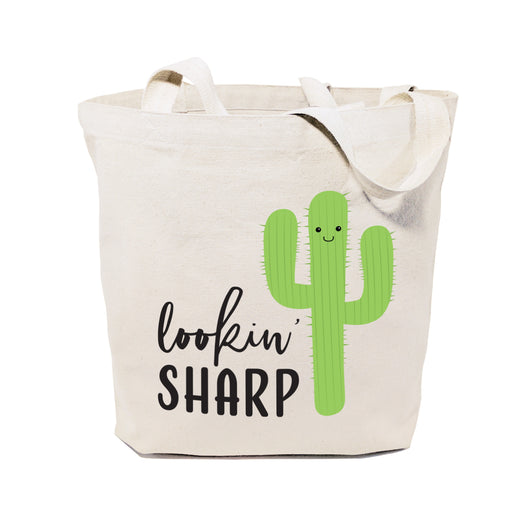 Lookin' Sharp! Cotton Canvas Tote Bag - The Cotton and Canvas Co.